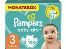 Pampers BABY DRY Windeln Gr 3 Midi 6 10kg MonatsBox 198ST