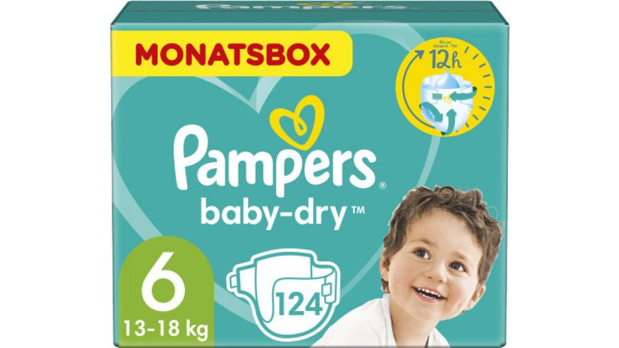Pampers BABY DRY Windeln Gr.6 Extra Large 13-18kg MB 124ST