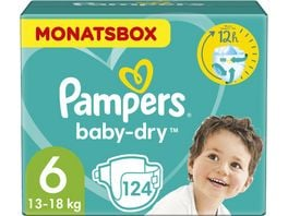 Pampers Windeln Baby Dry Groesse 6 Extra Large 13 18kg Monatsbox