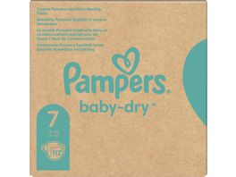 Pampers BABY DRY Windeln Gr 7 Extr Large 15 kg MonatsB 112ST