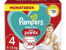 Pampers Windeln Baby Dry Pants Groesse 4 Maxi 9 15kg Monatsbox