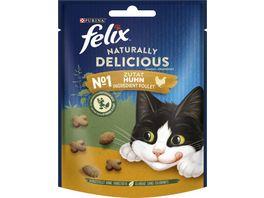 felix Katzensnack Naturally Delicious mit Huhn und einem Hauch von Katzenminze