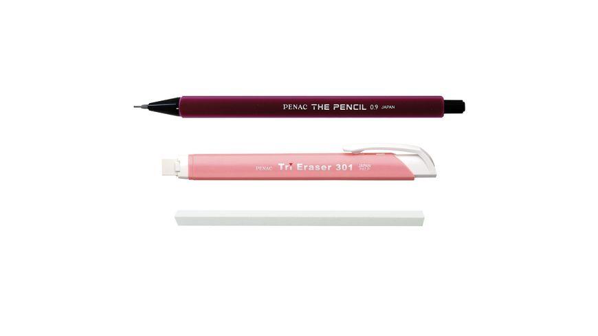 Penac THE PENCIL SET - Druckbleistift & Druckradierstift rot