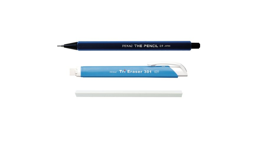 Penac THE PENCIL SET - Druckbleistift & Druckradierstift blau