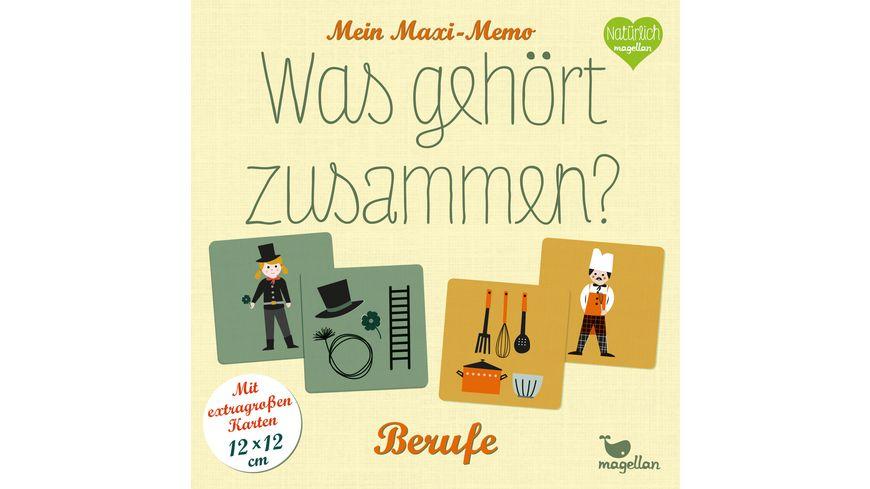 magelan Mein Maxi-Memo - Was gehört zusammen? - Berufe