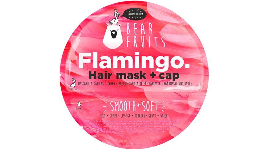 BEAR FRUITS Flamingo Haarmaske mit Haube