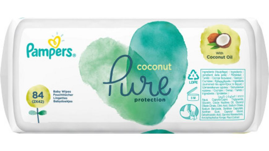 Pampers Pure Protection Feuchttuecher Coconut 2x42ST (=84ST)