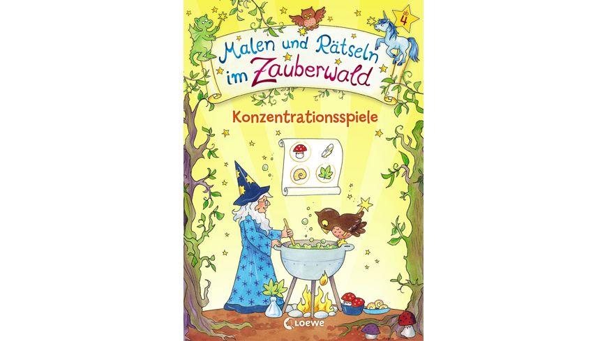 Malen und Rätseln im Zauberwald - Konzentrationsspiele Lernspiele für die Vorschule ab 4 Jahre