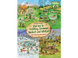 Viel los in Fruehling Sommer Herbst und Winter Mein Naturkind Wimmelbuch Pappbilderbuch fuer Kinder ab 2 Jahre Naturkind garantiert gut