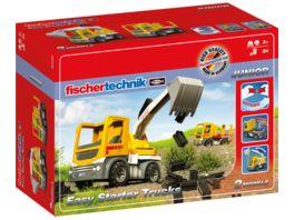 fischertechnik JUNIOR Easy Starter Trucks Spielzeugbagger Baustellenfahrzeuge Spielzeugbagger und Baustellen LKW