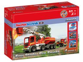 fischertechnik JUNIOR Easy Starter Fire Trucks Feuerwehrauto Cooles Feuerwehrauto fuer Kleinkinder ab 3 Jahre