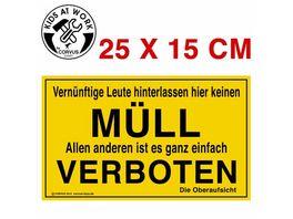 Corvus Schild Muell Verboten