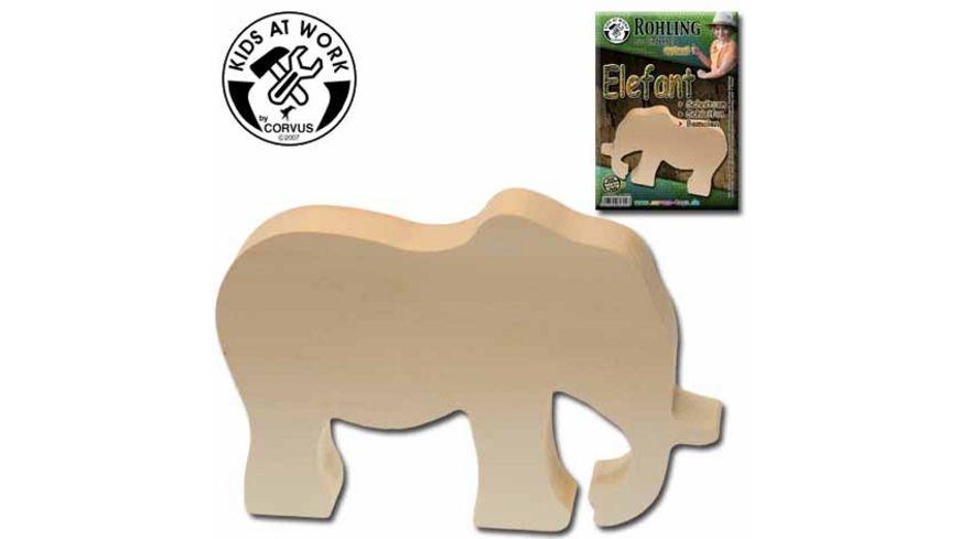 Corvus Holzrohling Elefant