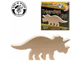Corvus Triceratops Holzrohling