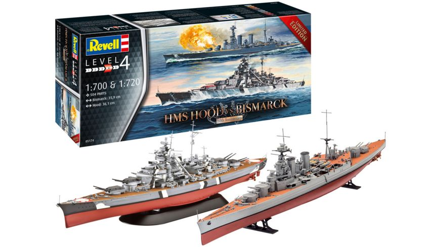 Revell 05174 - HMS HOOD vs. BISMARCK- 80th Anniversary