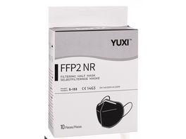 YUXI Filtering Half Mask FFP2 NR Schwarz Kinder