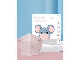 YUXI Filtering Half Mask FFP2 NR Pink Kinder