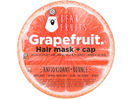 BEAR FRUITS Grapefruit Haarmaske mit Haube
