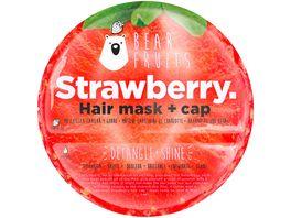 BEAR FRUITS Strawberry Haarmaske mit Haube