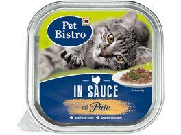 Pet Bistro Katzennassfutter In Sauce mit Pute