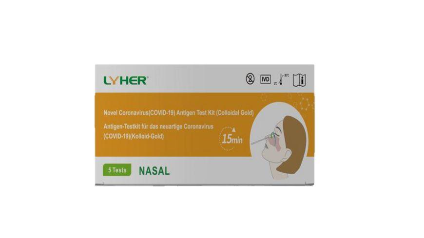 LYHER COVID-19 Antigen Nasal Selbsttest
