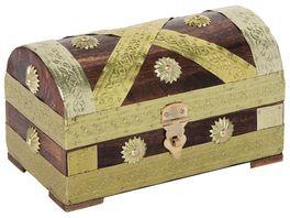 bartl Piraten Schatztruhe gold 18 cm 111437