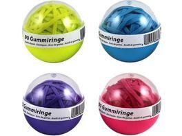 Metzger Mendle Gummiringball 90 Stueck farbig neon sortiert