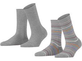 ESPRIT Damen Socken Multi Stripe 2er Pack