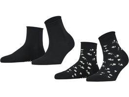 ESPRIT Damen Socken Mini Flower 2er Pack