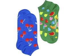 Happy Socks Unisex Sneaker Socken Fruit 2er Pack