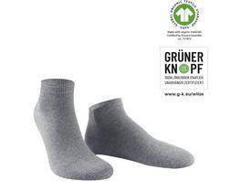 WILOX Herren Sneaker Socken ORGANIC COTTON GRUeNER KNOPF