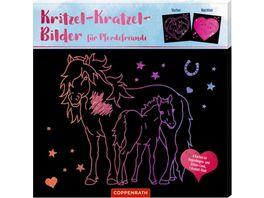 Die Spiegelburg Pferdefreunde Kritzel Kratzel Bilder fuer Pferdefreunde