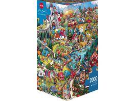 Heye Dreieckpuzzle Go Camping 2000 Teile