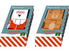 Die Spiegelburg Puzzlewuerfel Rentier Weihnachtsmann Froehliche Weihnachten sort