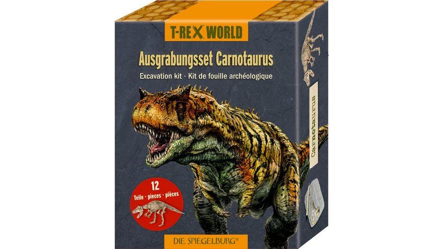 Die Spiegelburg - Ausgrabungsset Carnotaurus T-Rex World, ca.18x7x4 cm