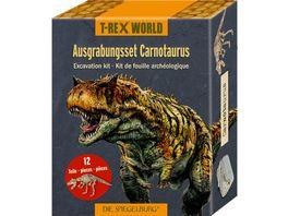 Die Spiegelburg Ausgrabungsset Carnotaurus T Rex World ca 18x7x4 cm