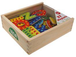 LENA Holz Magnet Buchstaben Holzkassette 65823
