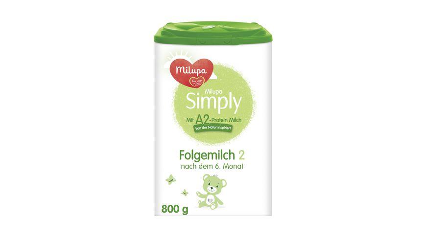 Milupa Simply mit A2-Protein Milch 2 Folgemilch nach dem 6. Monat, 800g