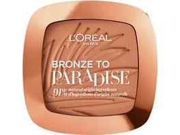 L OREAL PARIS Bronze to Paradise Puder Bronzer