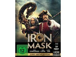 Iron Mask Mediabook 4K Ultra HD Blu ray 3D Blu ray 2D