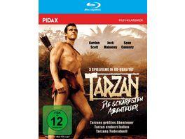 Tarzan Die schaerfsten Abenteuer Drei spannende Tarzan Abenteuer in brillanter HD Qualitaet Pidax Film Klassiker