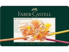 FABER CASTELL Farbstift Polychromos 36er Metalletui