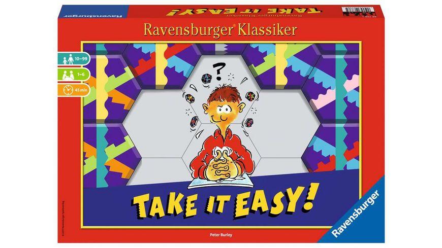 Ravensburger Spiel - Take it easy! Legespiel für 2-4 Spieler, Strategiespiel ab 10 Jahren, Ravensburger Klassiker