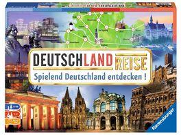 Ravensburger Spiel Deutschlandreise Familienklassiker ab 8 Jahren Gesellschaftspiel Reise durch Deutschland Reiseplanung fuer bis zu 6 Spieler