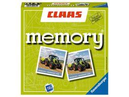 Ravensburger Spiel CLAAS memory der Spieleklassiker fuer alle Landmaschinen Fans Merkspiel fuer 2 8 Spieler ab 4 Jahren