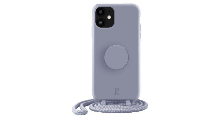 Just Elegance Case + PopSockets Popgrip für iPhone 11 (Purple)