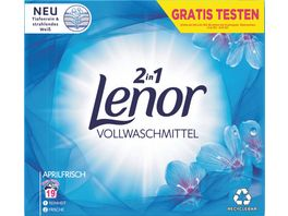 Lenor Compactcolorwaschmittel Pulver Aprilfrisch 1 235KG 19WL