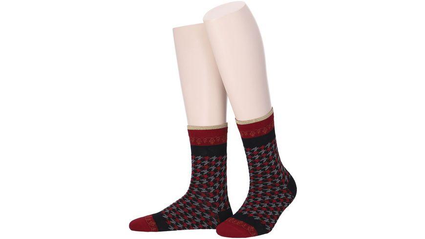 MOVE UP Damen Socken Pepita Design