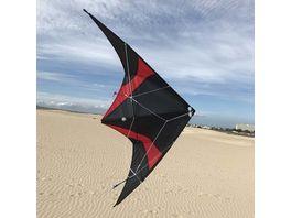 ELLIOT Buddy schwarz rot 123 x 55 cm Gfk Gestaenge rtf Lenkdrachen 0120016