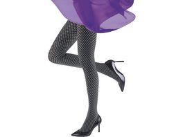 MOVE UP Damen Feinstrumpfhose mit geometrischem Design 70 DEN